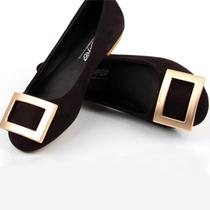 方扣圆头平跟低跟平底女士单鞋子微风RV2013年秋季新款欧美韩版潮 价格:19.00