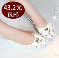 四季秋款尖头 女 单鞋 平底平跟街头休闲鞋舒适靓丽浅口女鞋子 价格:43.20