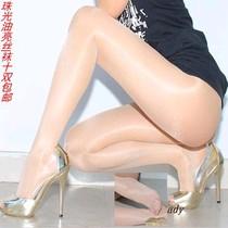 防勾丝吧珠光丝袜 性感透明 油亮连裤袜 包芯丝脚尖透明 大码裤袜 价格:3.50