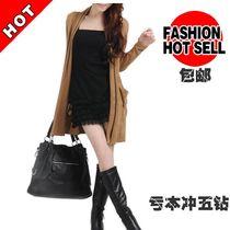 秋装新款女装显瘦毛衣外套百搭白领气质中长款羊绒羊毛衫 价格:138.00