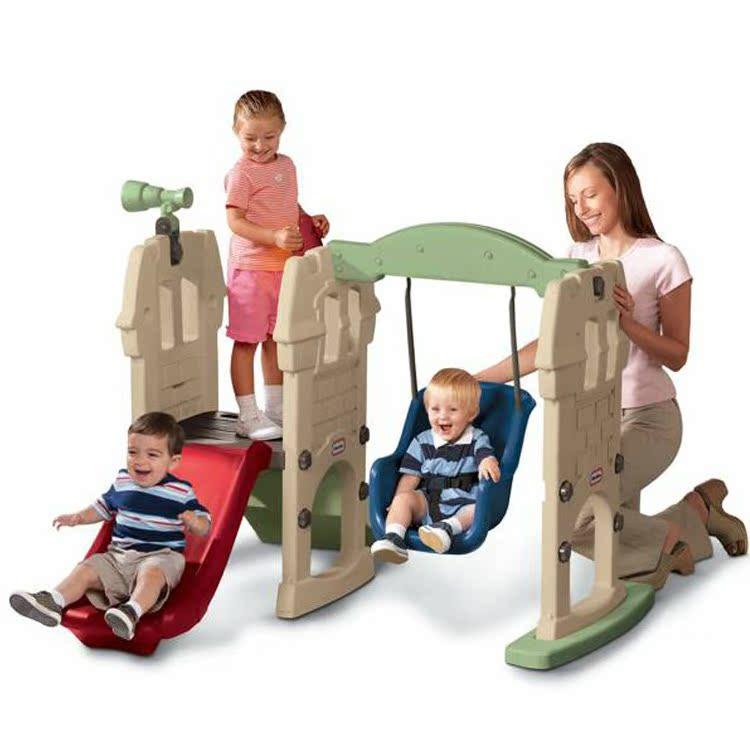 包邮 美国little tikes小泰克原装进口玩具滑梯秋千组合620256 价格:1344.00