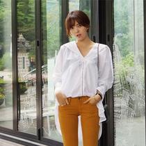 【韩国代购】dahong-韩版休闲个性宽松纯色衬衫 价格:338.00