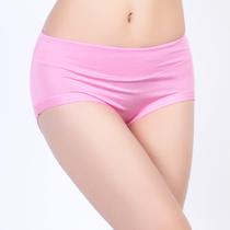 内裤女士高腰 6条包邮 无痕莫代尔加胶原蛋白收腹 加大码三角内裤 价格:5.80