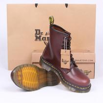 专柜正品Dr.Martens1460 8孔 英伦硬皮酒红棕红色男女短靴 马丁靴 价格:318.40