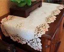 独秀 韩式田园高档彩色刺绣镂空桌旗柜巾台布茶几布餐垫桌布 价格:20.00
