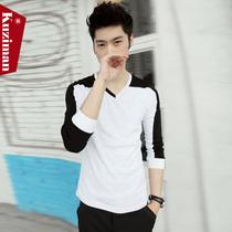 包邮 Kuziman2013秋季新款 长袖T恤潮流修身韩版男装纯色打底衫潮 价格:89.00