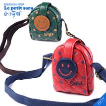 小小莎啦2013早春新款儿童韩国笑脸小挂包斜跨背包儿童出行包 价格:27.00