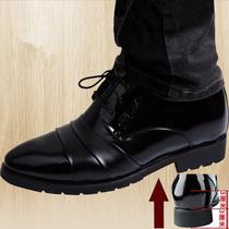 花花公子男皮鞋内增高男尖头商务正装皮鞋男增高鞋男休闲增高单鞋 价格:85.00