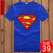 【39包邮】动漫卡通T恤 superman超人t恤短袖  男款女士情侣装t恤 价格:39.00