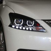 探陆泽 轩逸大灯总成改装 日产轩逸LED光导氙气灯大灯改装Q5透镜 价格:1425.00