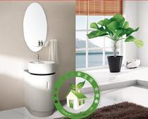 简欧pvc小浴室柜组合落地台上盆卫浴柜小户型洗脸盆洁具白色特价 价格:690.00