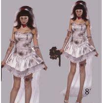 欧美新款万圣节僵尸新娘女鬼干尸吸血鬼舞蹈舞台时尚ds演出服装 价格:92.88