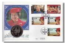 福克兰群岛1992年英王伊丽莎白二世摄政40周年纪念邮币首日封 价格:300.00