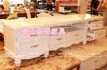 广东厂家直销 实木电视柜 欧式白色 天然米黄玉大理石电视柜A12 价格:850.00