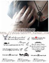【满30元包邮】身体彩绘水印贴纸花 时尚英文符号纹身贴纸 TA010 价格:2.50