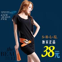 2013韩版大码女装新款OL气质修身包臀无袖夜店性感雪纺连衣裙夏季 价格:38.00