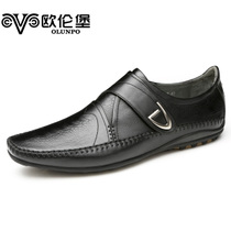 2013欧伦堡男士日常休闲鞋 纯手工缝制舒适商务皮鞋男鞋 QABA1302 价格:558.00