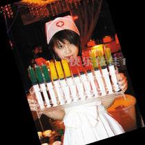 护士节塑料针管道具 鸡尾酒 超大针筒塑料玩具 注射针筒30 60ml 价格:2.90