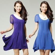 派力斯pellitts正品 夏季新款韩版荡领不规则修身连衣裙子PL1118 价格:188.00