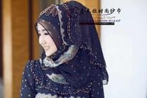 穆斯林头巾 盖头 嘉米拉时尚纱巾muslim hijab 公主头巾JML-423 价格:294.00