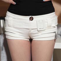 短裤 女 夏 性感低腰 包臀紧身热裤 唐家欧美风 白色包臀牛仔短裤 价格:69.00