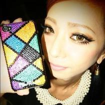 荻原桃子彩色方格 不规则菱形 手机DIY 美容 材料包 粘钻套包 价格:9.90