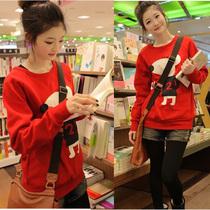2013韩版秋装新款以纯女款 卡通可爱 正品长袖宽松套头圆领卫衣女 价格:29.00