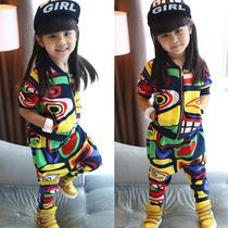 童装秋装2013女童秋装新款宝宝儿童衣服印第安图案明星款套装 价格:99.00
