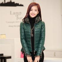 最新2013韩版时尚流行秋冬装新品羽绒服棉衣气质女装短款蕾丝外套 价格:252.00