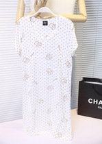 小Z家 夏款新品薄款短袖纯棉睡袍 女 卡通熊女士针织棉睡衣裙 价格:45.00