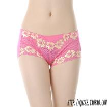 特价促销性感花朵中腰蕾丝女士莫代尔底裤竹炭纤维提臀女装内裤 价格:5.20