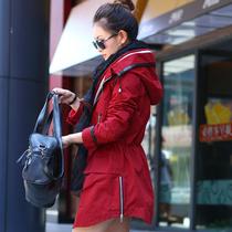 风衣女外套2013秋装新款女装 韩芙儿正品修身韩版女式风衣外套022 价格:258.00