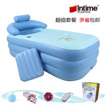 保暖加大加厚折叠洗浴盆 超大洗澡盆泡澡沐浴桶 木桶成人充气浴缸 价格:125.00