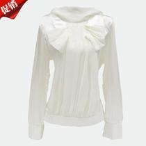 悠美 2013休闲优雅甜美公主气质蝴蝶结修身雪纺衫 女长袖衬衫 价格:62.00