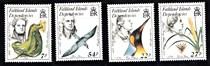 福克兰群岛1985年植物 鸟类学家4V 价格:35.00