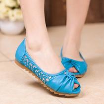 2013夏季新款平底女彩鞋凉鞋 缕空平跟鱼嘴鞋休闲女鞋 工作鞋特价 价格:75.90
