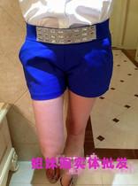 13夏新女时尚烫钻松紧腰中腰短裤 热裤 休闲裤 天天特价 价格:45.00