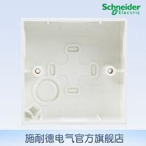 施耐德电气 86型通用明盒 墙壁电源开关插座明装底盒 安装盒 E238 价格:5.90