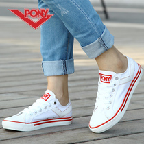 包邮美国PONY女鞋男鞋专柜正品Shooter系列-经典白色低帮帆布鞋 价格:99.00