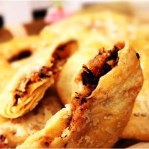 浙江特产小吃 零食糕点 正宗铜鸟金华梅干菜薄酥饼烧饼[微辣]180g 价格:8.00