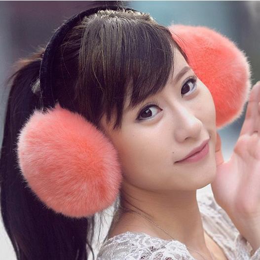 毛毛耳套女耳罩仿兔毛耳套仿狐狸毛耳捂耳暖保暖护耳毛绒耳包冬女 价格:12.90