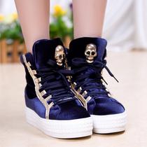 2013厚底西施绒鞋运动鞋内增高高帮鞋松糕鞋潮鞋板鞋女鞋1687 价格:125.00