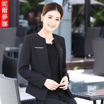 妮尔梦娜 2013新款套装长袖西装 修身时尚气质金属装饰西装外套女 价格:138.00