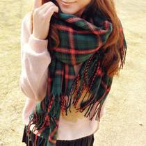 RGLT正品 新款 韩版超长格子空调披肩 毛线围巾 男女披肩围巾两用 价格:29.90