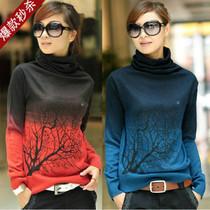 2013秋装新款女士羊绒羊毛衫韩版女装高领针织打底衫短款毛衣套头 价格:50.50