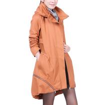 冰贝2013秋装新款韩版长款拉链大码女式风衣外套279【包邮】 价格:229.00