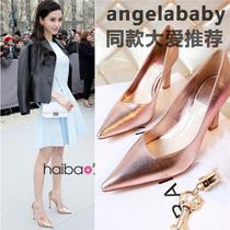 明星产品!Dior CD迪奥西班牙代购女鞋angelababy走秀高跟凉鞋子 价格:398.00