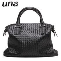 优娜2013秋冬新款BV羊皮编织包手提包单肩包女包大包真皮包欧美风 价格:699.00