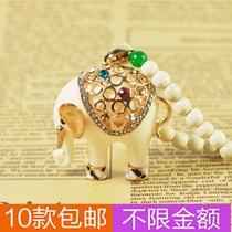 实拍 X108 大象泰国镂空镶钻玛瑙串珠松石珠链长款项链毛衣链 价格:14.80