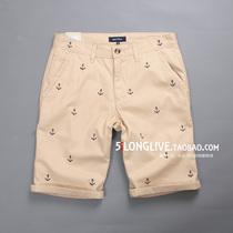 NAUTICA诺蒂卡船锚型刺绣男士中腰修身短裤休闲裤 NO:739 三色入 价格:109.00